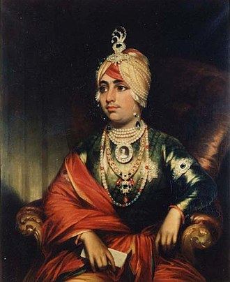 Duleep Singh - Duleep Singh, in ceremonial dress, 1852, by the English painter George Duncan Beechey