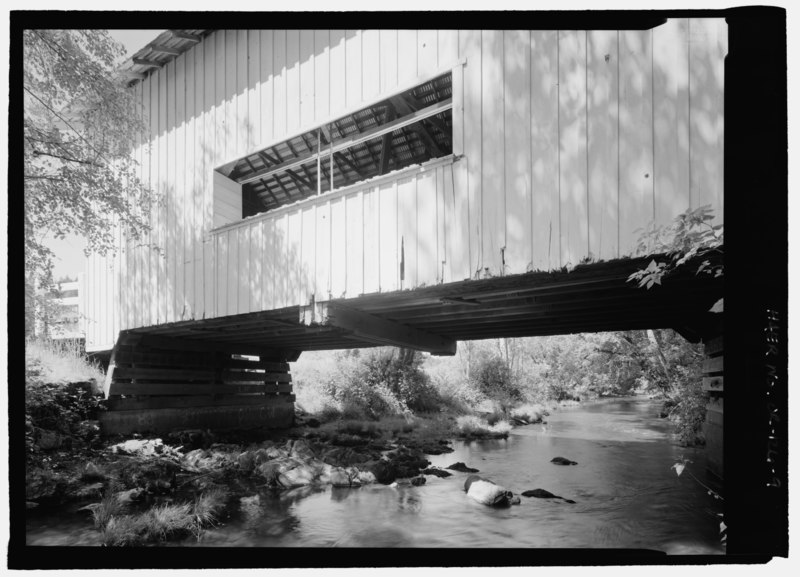 File:ELEVATION LOOKING EAST - Neal Lane Bridge, Spanning South Myrtle Creek, Neal Lane (CR 124), Myrtle Creek, Douglas County, OR HAER OR-126-9.tif