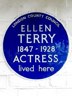 Photo of Ellen Terry blue plaque
