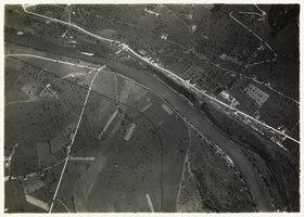 Luftaufnahme von 1919, der Standort wäre im linken Bildbereich gewesen