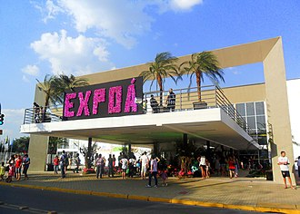 Poá - Main Square Event in one of the editions of the Expo.