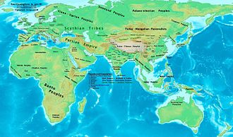 Turkic peoples - Eastern Hemisphere in 500 BCE