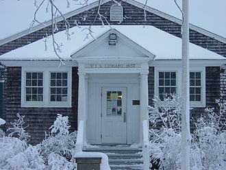Eastham Public Library - Image: Eastham Library in Snow