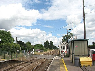 Eccles Road railway station - Image: Eccles Road Station geograph.org.uk 1398991