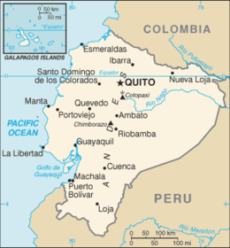 Ecuador - Mappa
