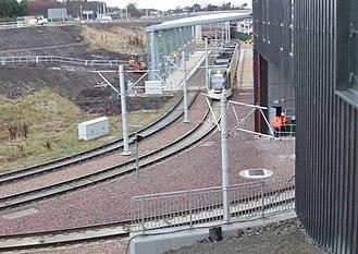Edinburgh Airport - Edinburgh Gateway station interchange stop