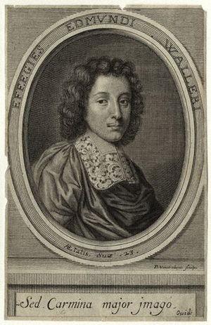 Peter Vanderbank - The poet Edmund Waller in engraving by Peter Vanderbank. National Portrait Gallery, London