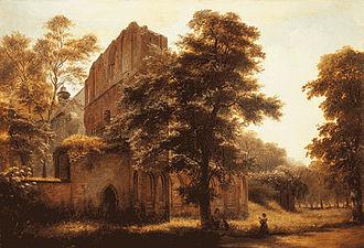 Lehnin Abbey - Lehnin Abbey Ruins: Eduard Gaertner, 1858