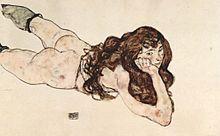 Mylène apprécie E.Schiele dans Mylène et les AUTEURS 220px-Egon_Schiele_044
