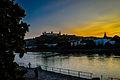 Ein wunderschöner Tag geht zu Ende. Abendstimmung am Main bei Würzburg (10610914745).jpg