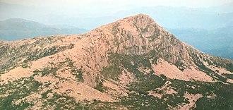 Eldon Range - Image: Eldon Peak, from west