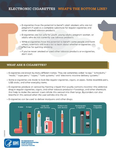 General information on what are e-cigarettes from the Centers for Disease Control and Prevention.