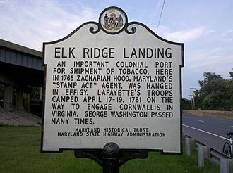 Elkridge Landing - Historic Marker