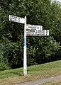 Elsenham Broxsted fingerpost and path Henham Essex England.jpg