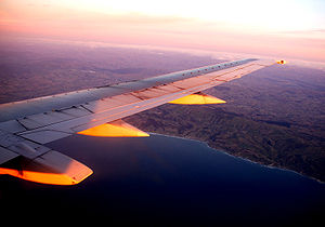 First light on the wing. En route Wellington t...