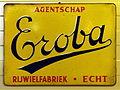 Enamel advertising, Eroba rijwielfabriek, Echt.JPG