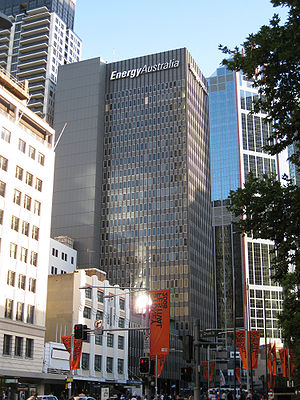 EnergyAustralia (state government enterprise) - The EnergyAustralia headquarters in George St., Sydney.