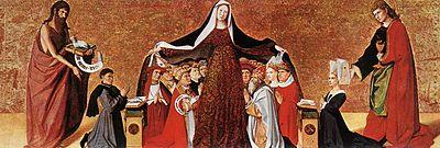 А. Картон. Богоматерь Милосердие. 1452 год. Шантийи, музей Конде.