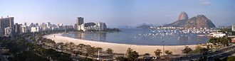 Sugarloaf Mountain - Sugarloaf (background right) and Botafogo beach