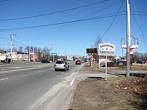 Massachusetts Route 139 - Entering Randolph eastbound