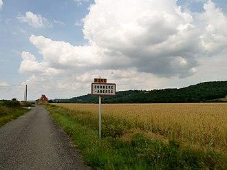 Corbère-Abères - The road into Corbère-Abères