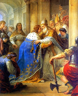 Integralism - King Louis IX of France meeting with Pope Innocent IV