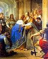Entrevue de Saint Louis, roi de France, et du pape Innocent IV, a Lyon, en 1248, Louis Jean Francois Lagrenee.jpg