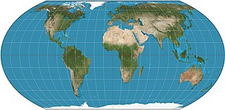 Equal Earth projection pseudocylindrical, equal-area map projection