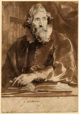 Erycius Puteanus - Chalk drawing of Erycius Puteanus by Anthony van Dyck