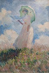 Claude Monet: Femme à l'ombrelle tournée vers la gauche