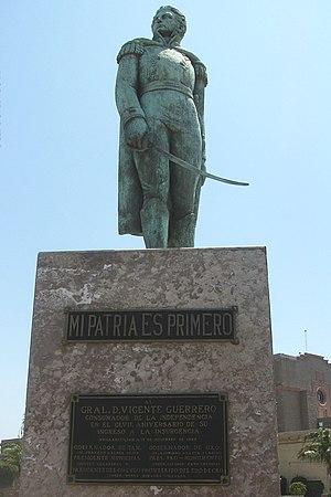 Vicente Guerrero - Image: Estatua Guerrero