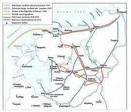 Estonian War of Independence, map