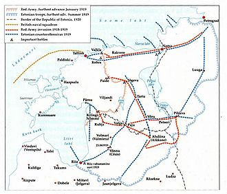 Soviet westward offensive of 1918–19 - Estonian and Soviet operations in Estonia and Latvia, 1918–19