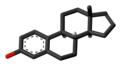 Estratetraenol molecule skeletal.png