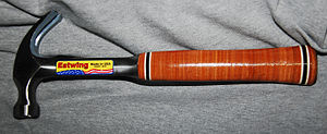 Claw hammer - Classic Estwing claw hammer with leather-wrapped handle
