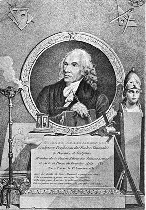 Étienne-Pierre-Adrien Gois - Portrait of Étienne-Pierre-Adrien Gois, a.k.a. Gois the Elder (1731-1823), French sculptor by unknown artist (illegible)