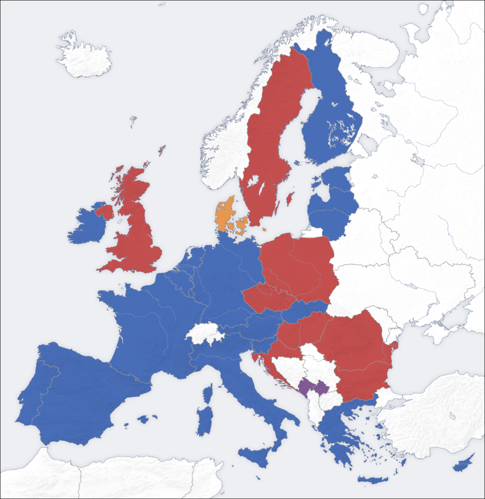 European union emu map