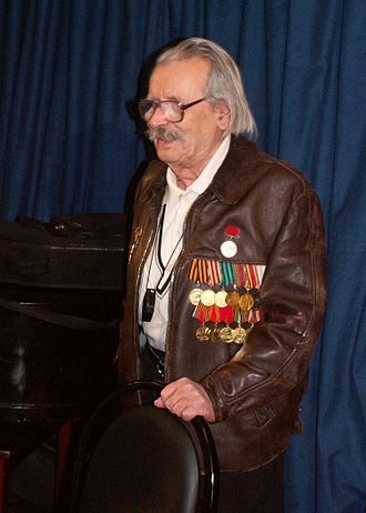 """Medal """"Veteran of Labour"""" - Poet and bard Evgeny Agranovich, a recipient of the Medal """"Veteran of Labour"""""""
