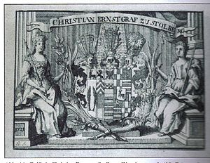 Christian Ernest of Stolberg-Wernigerode - Exlibris of Christian Ernst zu Stolberg-Wernigerode