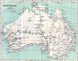 John Forrest - Forrest's explorations, as pictured in his book, Explorations in Australia.