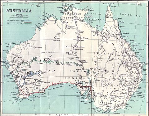 Map of John Forrest's expeditions Expeditions of John Forrest.jpg
