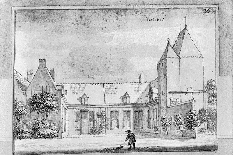 Terrein waarin overblijfselen van het versterkte huis natewisch in amerongen monument - Oude huis fotos ...
