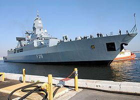 FGS Sachsen (F219) ved Mayport Naval Station, Florida USA 2006
