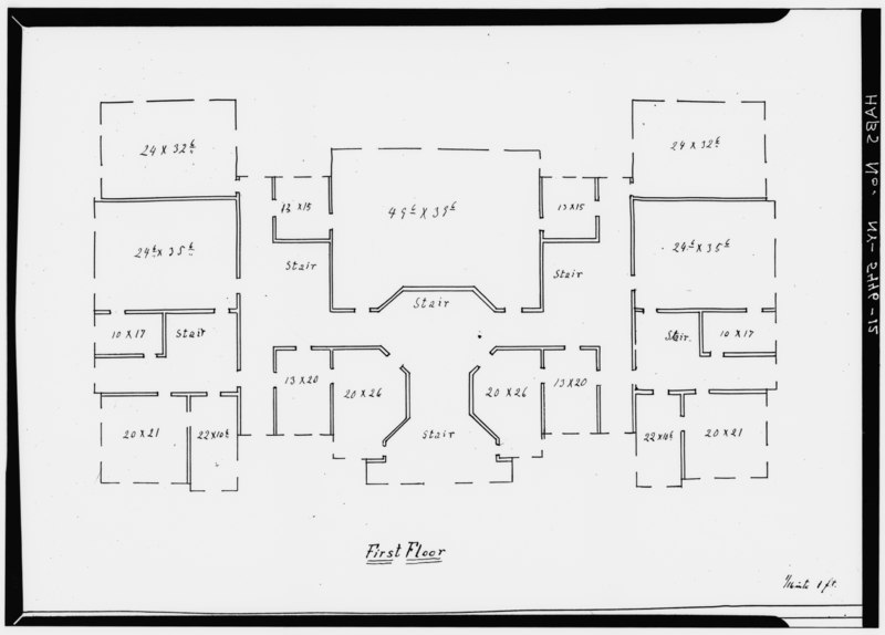 File first floor plan no date syracuse university hall for Plan and print syracuse