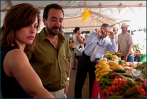 Nutrition Assistance for Puerto Rico - FNS and Puerto Rican representatives inspect a marketplace in San Juan. Both entities meet periodically to discuss the program.