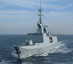 La Fayette-class frigate - The La Fayette type features very clean superstructures, as Courbet demonstrates