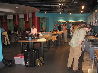 Fab Lab MSI - The Lab being enjoyed by members of the Museum of Science and Industry