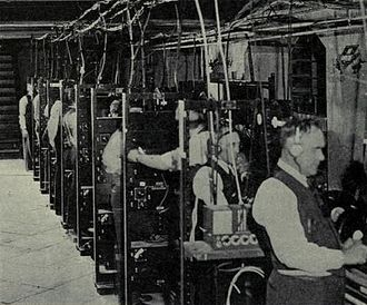 Fantasound - Staff operating the eight sound channels located in the hall's basement
