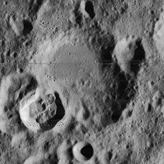 Faraday (crater) - Lunar Orbiter 4 image