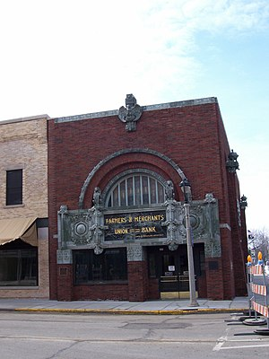 Public Enemies (2009 film) - Image: Farmers&Merchants Bank Columbus Wisconsin Public Enemies Set